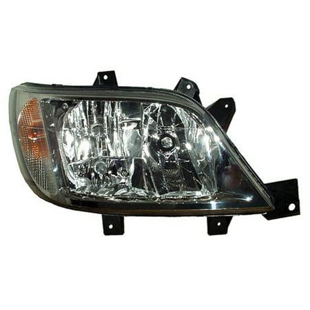 2003-2006 Dodge Sprinter 2500  Passenger Side Right Head Lamp Assembly W/O Bulb, Fog Lamp, (Dodge Sprinter Passenger)