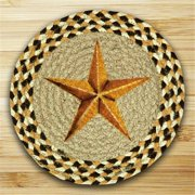Earth Rugs 80-423GBS Round Miniature Swatch, Golden Barn Star, printed