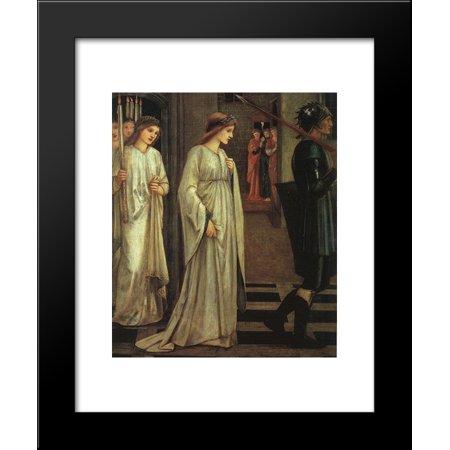 The Princess Sabra Led To The Dragon Painting 20X24 Framed Art Print By Edward Burne Jones