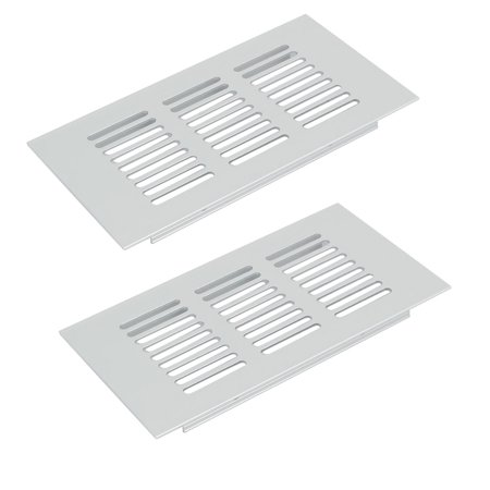 150mmx80mm Aluminum Alloy Ventilation Grille Air Vent Louvered Grill Cover 2pcs