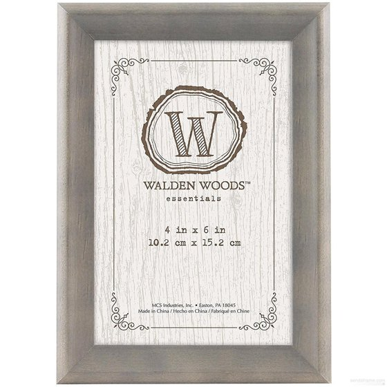 Walden Woods Essentials Weathered Gray Desk Frame From Mcs Walmart