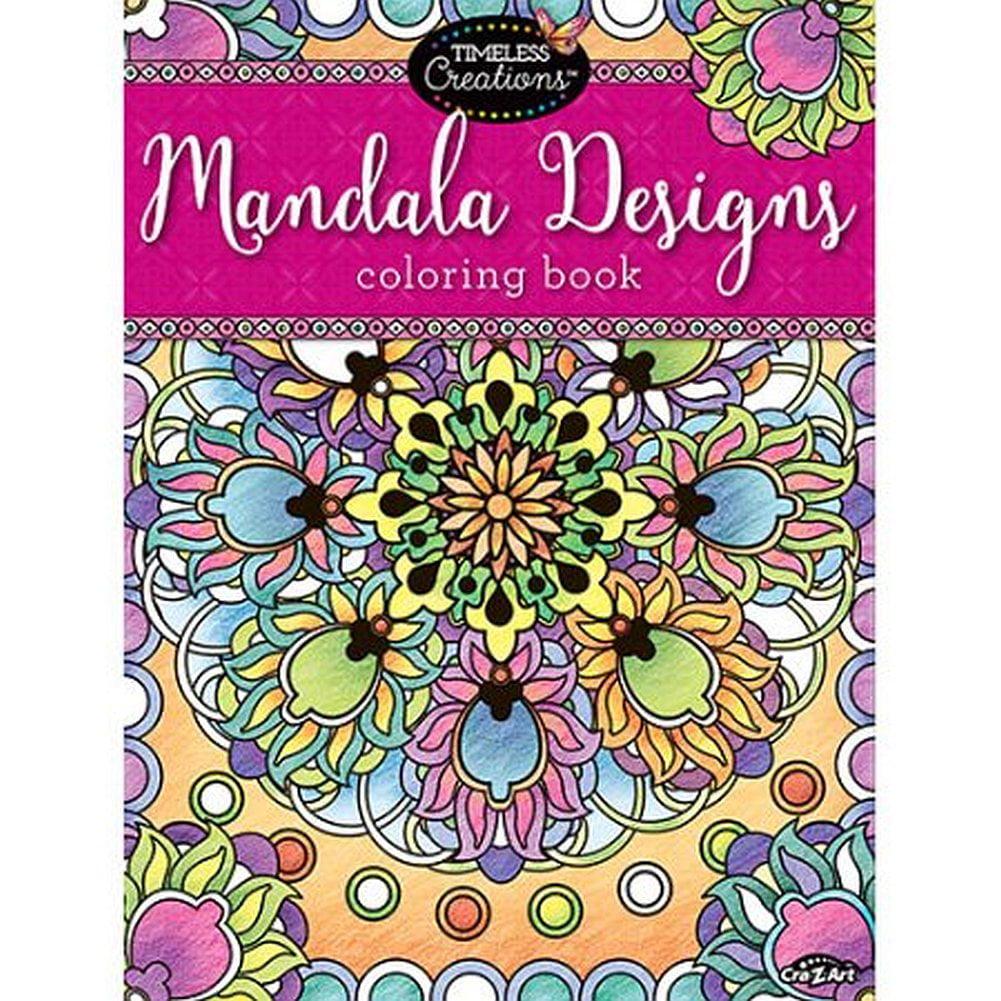 Cra-Z-Art Timeless Creations MANDALA DESIGNS COLORING BOOK by CRA-Z-ART