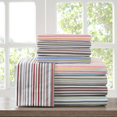 Home Essence Apartment Multi Stripe Microfiber Sheet Set