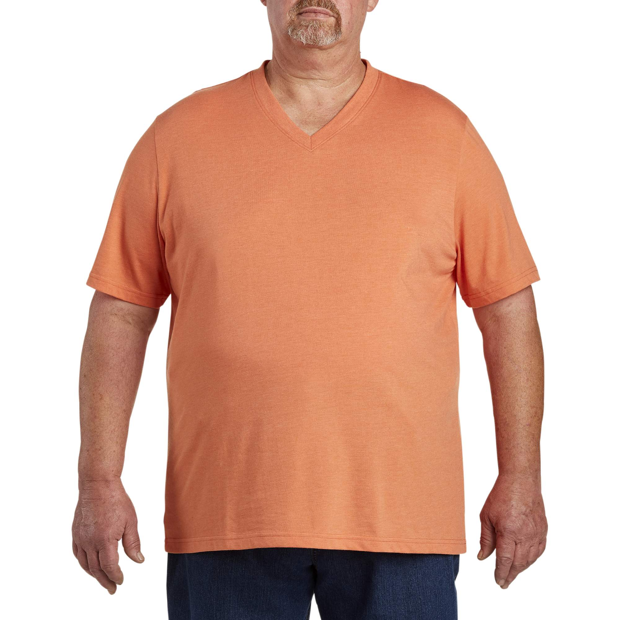 Image of 555 Turnpike Men's Big & Tall Wicking Jersey V Neck Tee