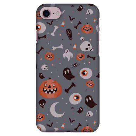 iPhone 8 Case, Premium Handcrafted Printed Halloween Designer Hard ShockProof Case Back Cover for iPhone 8 - Freaky Grey