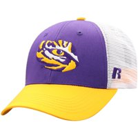 Men's Russell Athletic Purple/White LSU Tigers Steadfast Snapback Adjustable Hat - OSFA