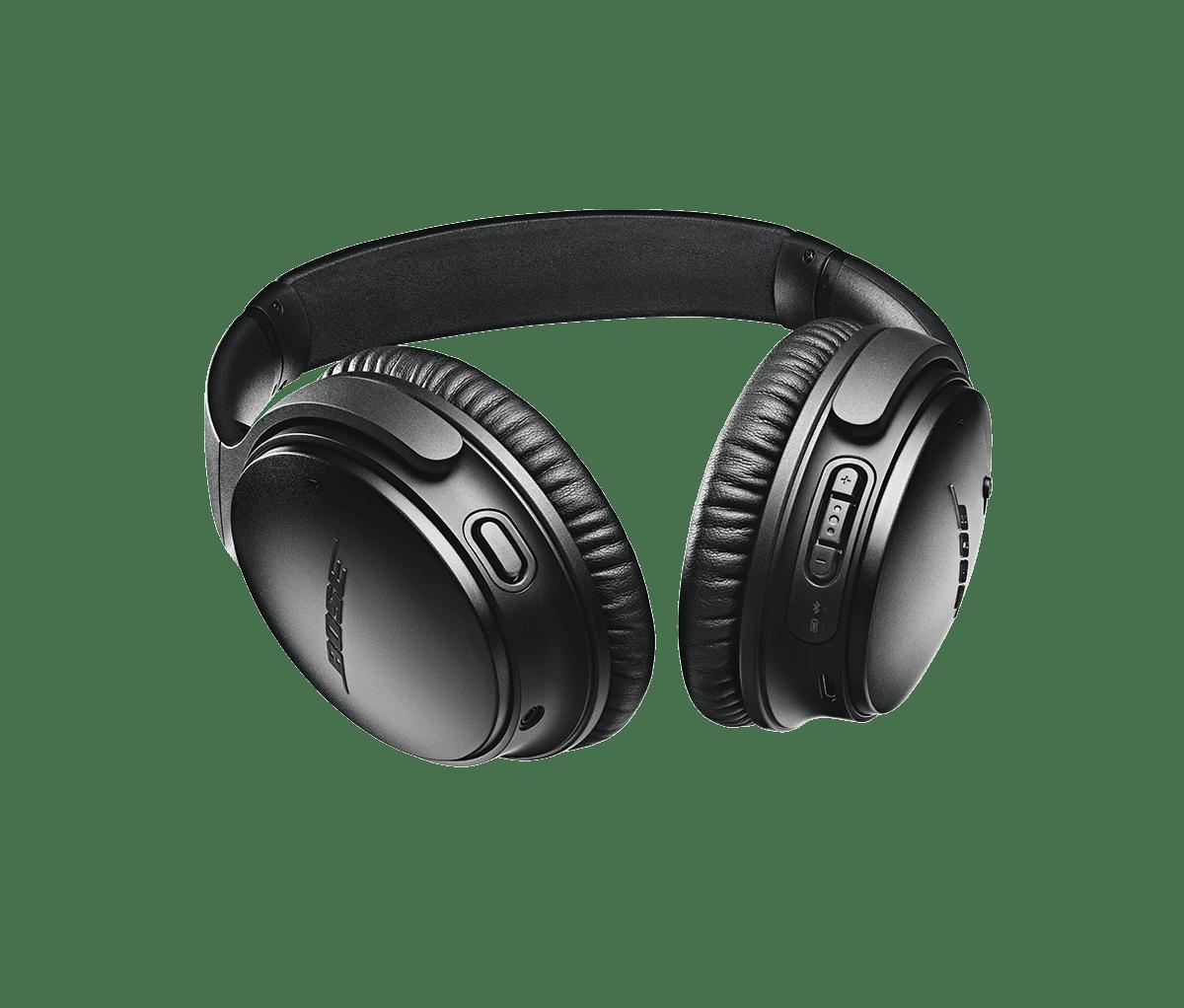 aa9c2a2cd8c Bose QuietComfort 35 Wireless Headphones II with Google Assistant - Black -  Walmart.com