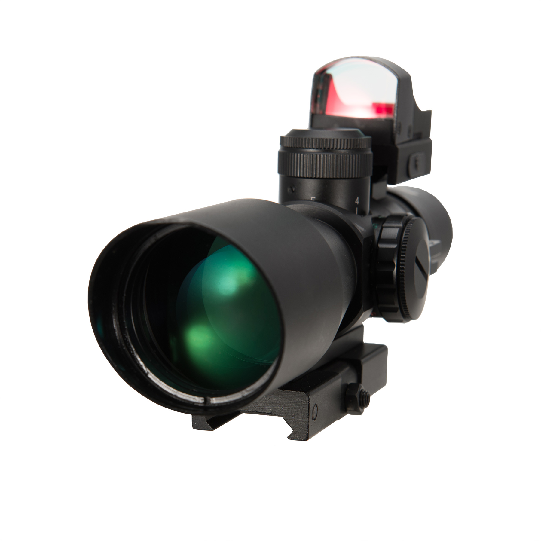 3-9X42EG Rangefinder Mil Dot Reticle Riflescope with Red ...