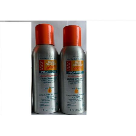 Lot of 2 - Avon SKIN SO SOFT BUG GUARD Plus PICARIDIN Aerosol (Avon Skin So Soft Bug Guard Plus)