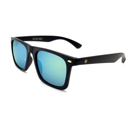 5bbe7c5aa4f Zoo York - Men s Black Two Tone Rectangle Sunglasses - Walmart.com