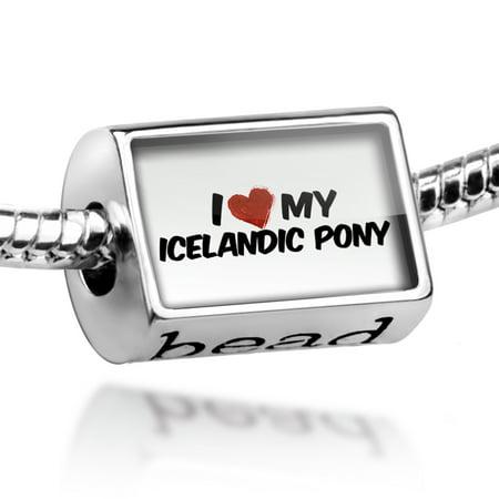 Love Icelandic Horse - Bead I Love my Icelandic pony Icelandic Horse Charm Fits All European Bracelets