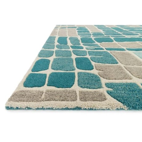 Loloi Nova 2 6 Quot X 7 6 Quot Wool Rug In Teal And Gray