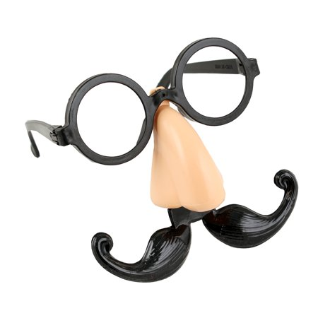 Dali Mustache Halloween (Halloween Party Eye glasses with Big Nose and Mustache Mask)
