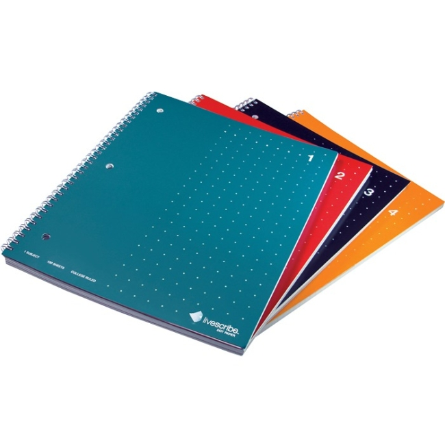 Livescribe 4-Pack Single-Subject Lined Notebooks