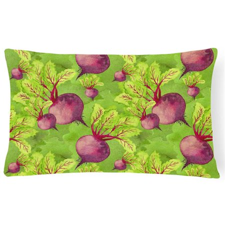 Carolines Treasures BB7574PW1216 Watercolor Raddishes Canvas Fabric Decorative Pillow, 12 x 16 in. - image 1 de 1