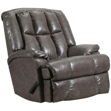 Lane Comfort King Big Man S Rocker Recliner Grey Leather