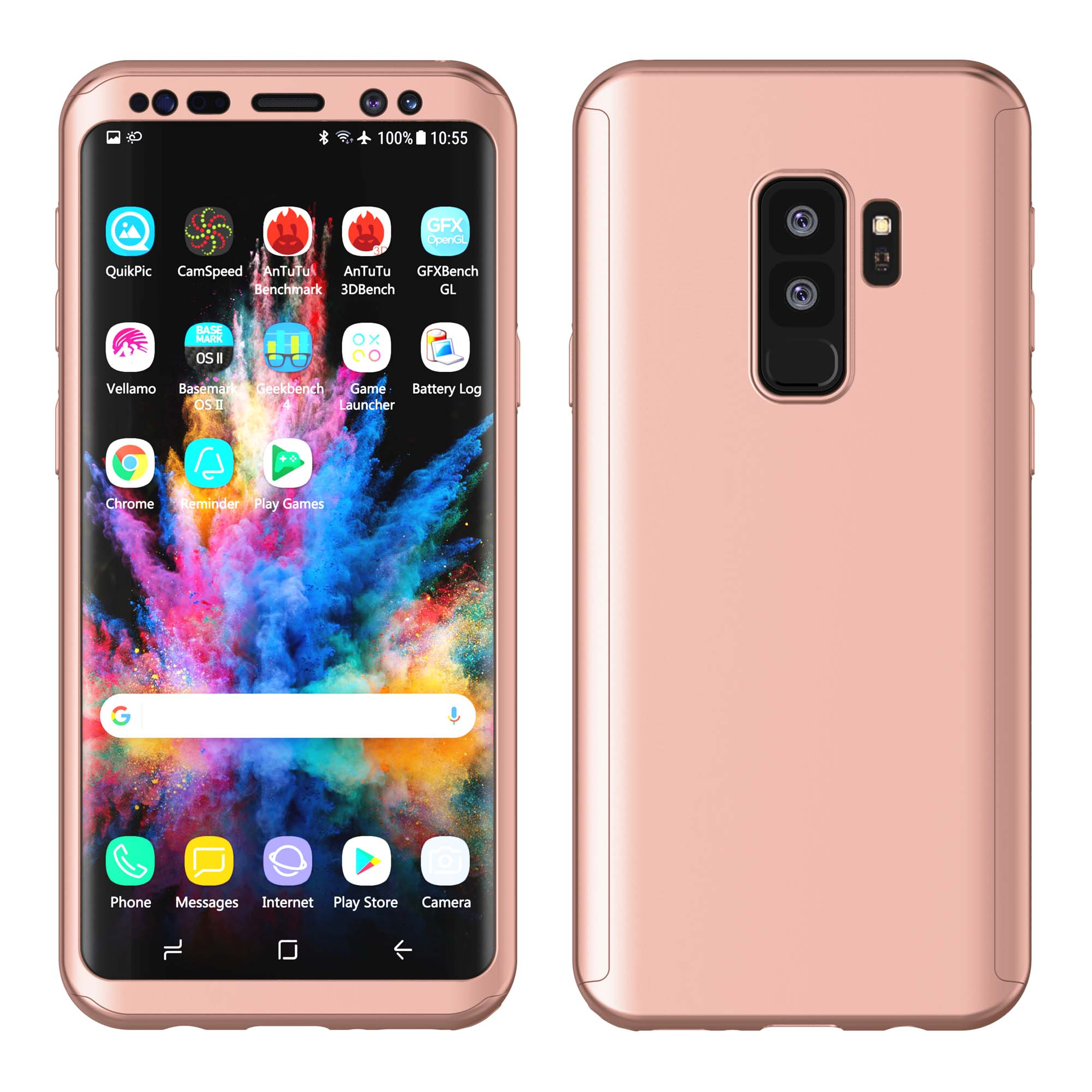 """Njjex Case For 5.8"""" Galaxy S9 / 6.2"""" Galaxy S9 Plus, Njjex (Rose Gold)Ultra Thin Full Body Coverage Protection Scratch Proof Hard Hybrid Plastic Case Cover Shell For 2018 Samsung SM-G960 / SM-G965"""