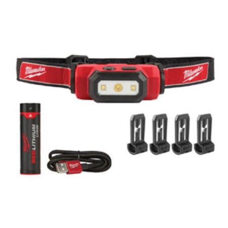 Milwaukee Electric Tools 2111-21 475-lumen Led Usb Rechargeable Hard Hat Headlamp W/ [1] Redlithium Battery