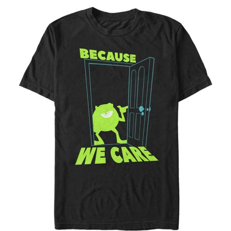 Monsters Inc Men's Mike Cares Doorway T-Shirt (Mike W Monsters Inc)