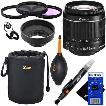 Canon EF-S 18-55mm f/3.5-5.6 IS II SLR Standard Zoom Lens for EOS 7D, 60D, EOS Rebel SL1, T1i, T2i, T3, T3i, T4i, T5, T5i, T6, T6i, XS, XSi, XT, & XTi Digital SLR Cameras + 10pc Deluxe Accessory Kit (Zoom For Canon T3i)