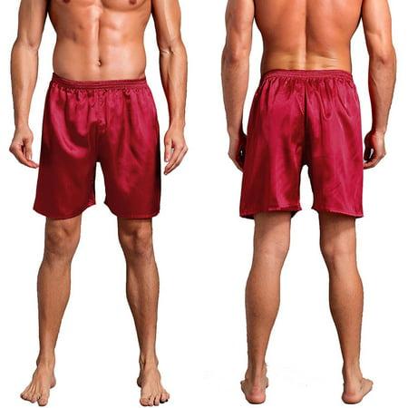 Men's Satin Pajamas Pants Shorts Sleep Bottoms Nightwear Sleepwear Pyjama - Pajama Trousers