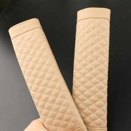 KABOER 1Pair Car Seat Belt Strap Soft PU Leather Safety Shoulder Cushion Pads Covers ()