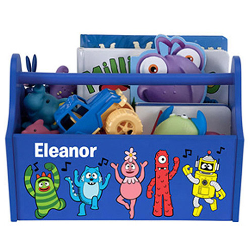 Personalized Yo Gabba Gabba! Music Notes Blue Toy Caddy