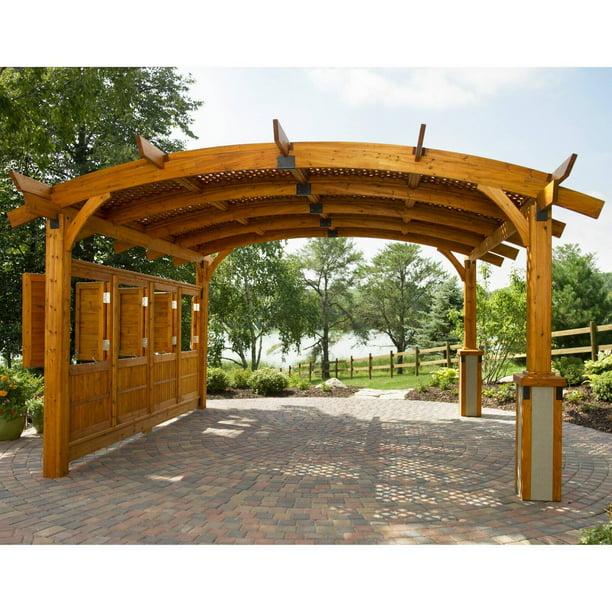 Sonoma Arched Wood Pergola 16 X 16 Ft Walmart Com Walmart Com