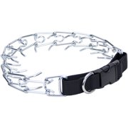 Titan Easy-On Prong Dog Training Collar W/Buckle-Black/Chrome, Neck Size 22""