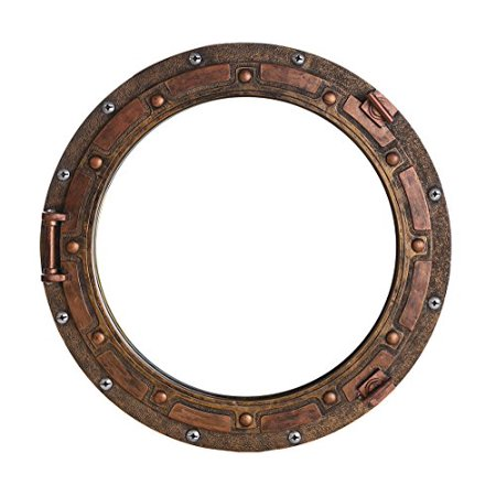 Nautical Ship Porthole Mirror Wall Decor Rust Bronze Finish Nautical Decor (Ship Porthole Mirror)