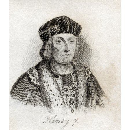 Henry Vii 1485-1509 King Of England From The Book Crabbs Historical Dictionary Published 1825 Canvas Art - Ken Welsh  Design Pics (13 x