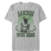 Star Wars Men's St. Patrick's Day Yoda Lucky You Are Clovers T-Shirt