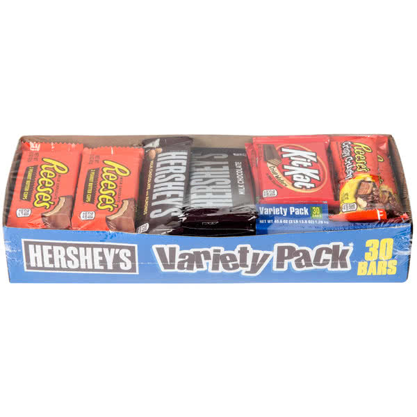 TableTop King Chocolate Full Size Candy Bar Variety Pack - 30 Count