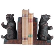 Bookends Bookend MOUNTAIN Rustic Playful Sitting Bear Resin New Hand-Cast OK-175