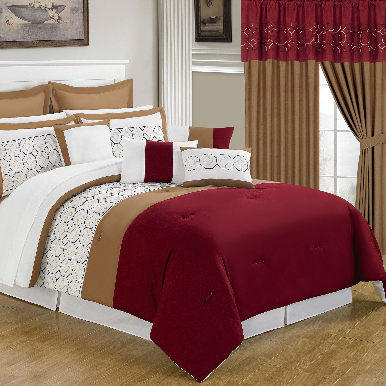 Lavish Home 25 Piece Room-In-A-Bag Sarah Bedroom Set