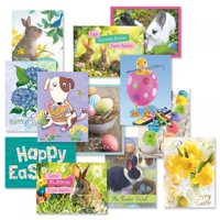 Easter Cards Value Pack - Set of 12 (1 of each)