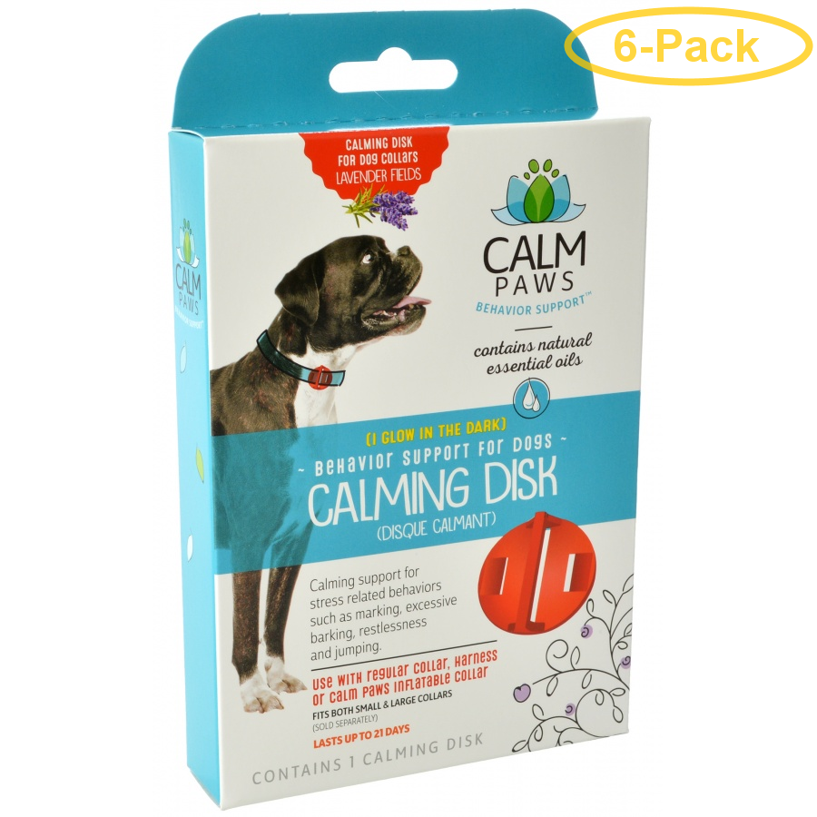 Calm Paws Calming Disk for Dog Collars 1 Count - Pack of 6