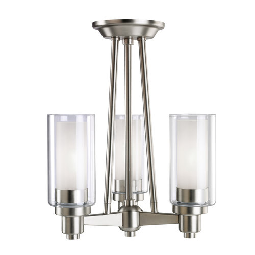 Kichler  3743  Ceiling Fixtures  Circolo  Indoor Lighting  Semi-Flush  ;Brushed Nickel