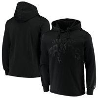 San Antonio Spurs Contrast Perforated Fleece Pullover Hoodie - Black