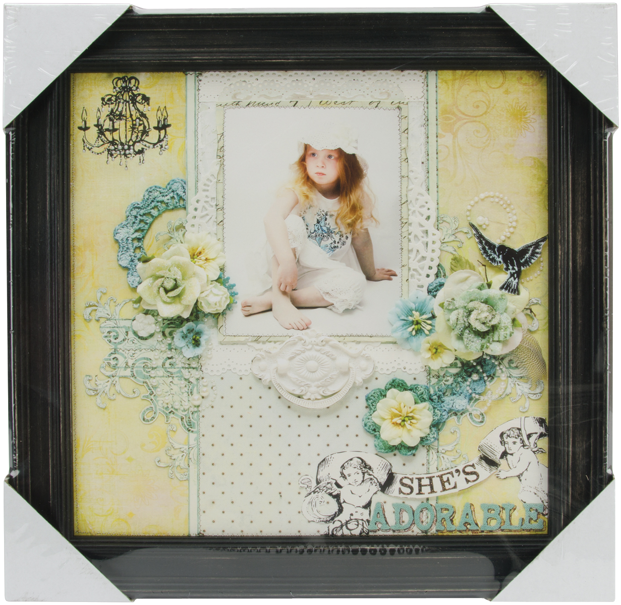 Wood Frame 12 Inch X 12 Inch-Antique Black