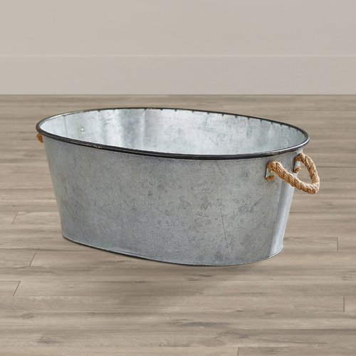 August Grove Savoie Galvanized Metal Bucket