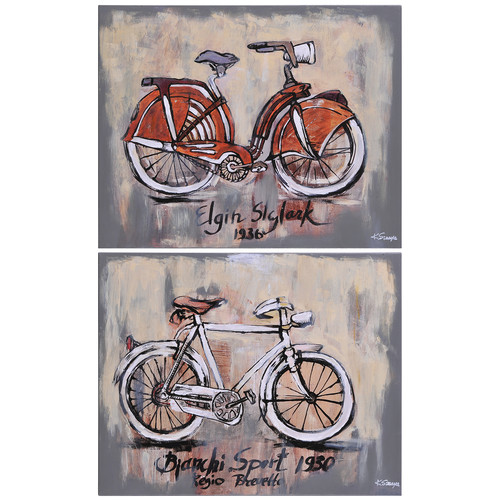 Ren-Wil Vintage Bicycle by Ksenia Sizaya Painting Print (Set of 2)