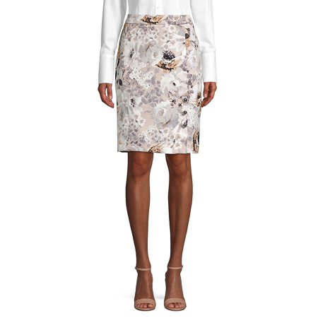 Anne Klein Lined Skirt (Floral Pencil Skirt )