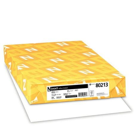 Neenah Exact Vellum Bristol 11 x 17 White Paper 94 Brightness 67lb 250/Ream (Vellum Printer Paper)