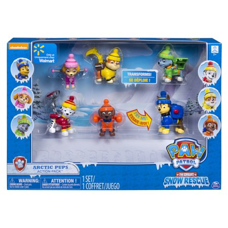 Paw Patrol Snow Rescue - Arctic Pups Action Pack Gift Set - Walmart Exclusive