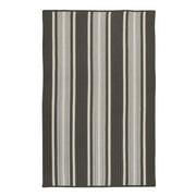 2' x 4' Gray Striped Rectangular Area Throw Rug