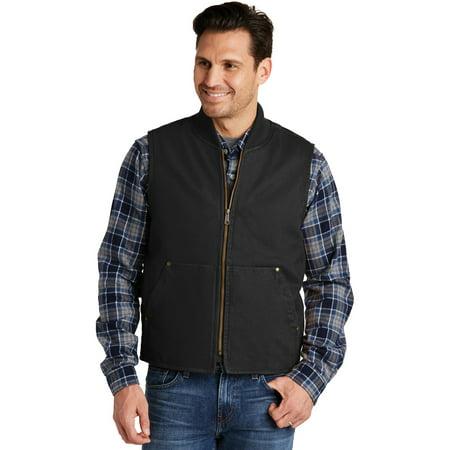 CornerStone CSV40 Washed Duck Cloth Vest, Black, XS Carhartt B11 Washed Duck