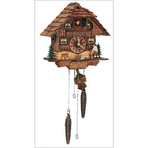 """Schneider 10"""" Black Forest Wood Chopper Antique Cuckoo Clock"""