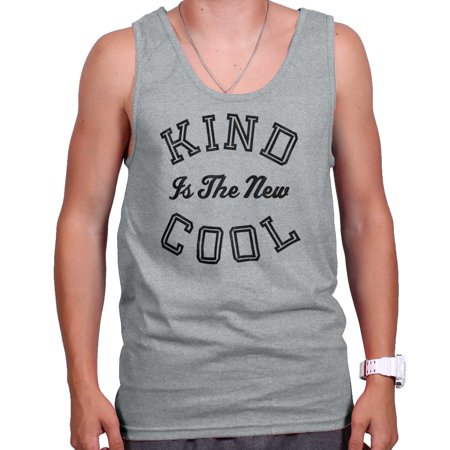 - Kind Is the New Cool Trendy Nice Happy Gym Tank Top