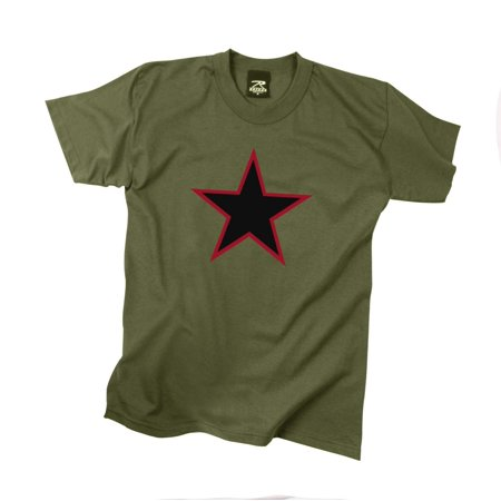Red China Star Olive Drab T-Shirt